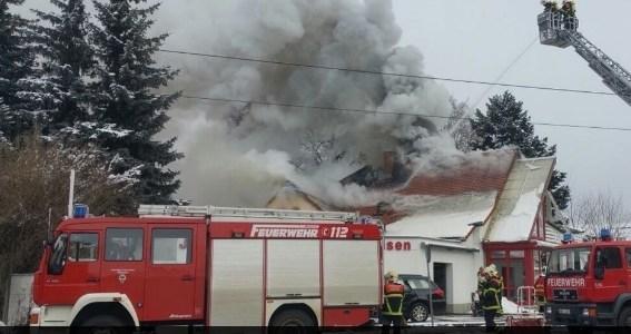 Großbrand in der Meißner Straße