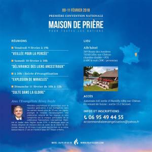 Rémy Bayle, Maison de Prière, première convention, Action Mondiale Evangélisation première convention de la maison de prière pour toutes les nations - ame