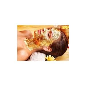 10 Feuilles d'or 80mm x 80mm pour masque visage SPA esthetique
