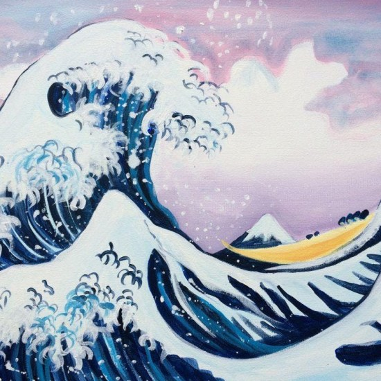 paint the great wave