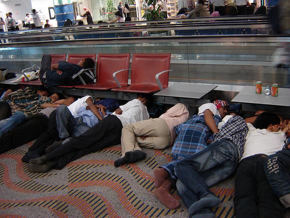 Sleeping travellers by anglogean - Flickr