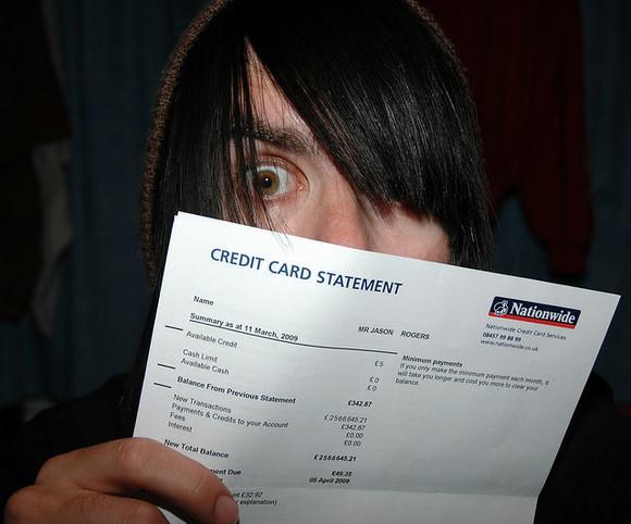 Credit Card Bill, by xJasonRogersx - Flickr