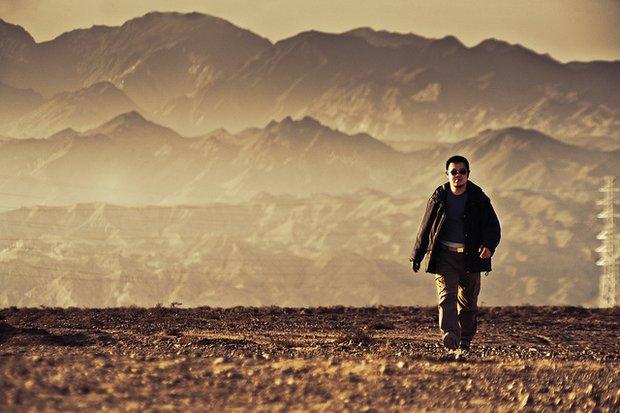 Man Walking Silk Road