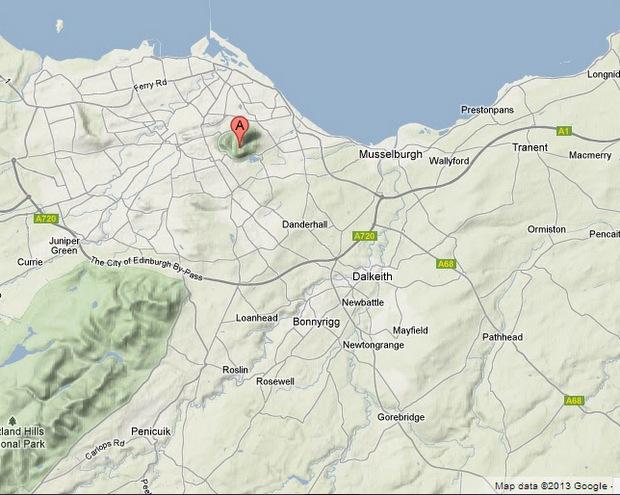 map edinburgh arthur's seat - Google Maps - Google Chrome 19032013 113758