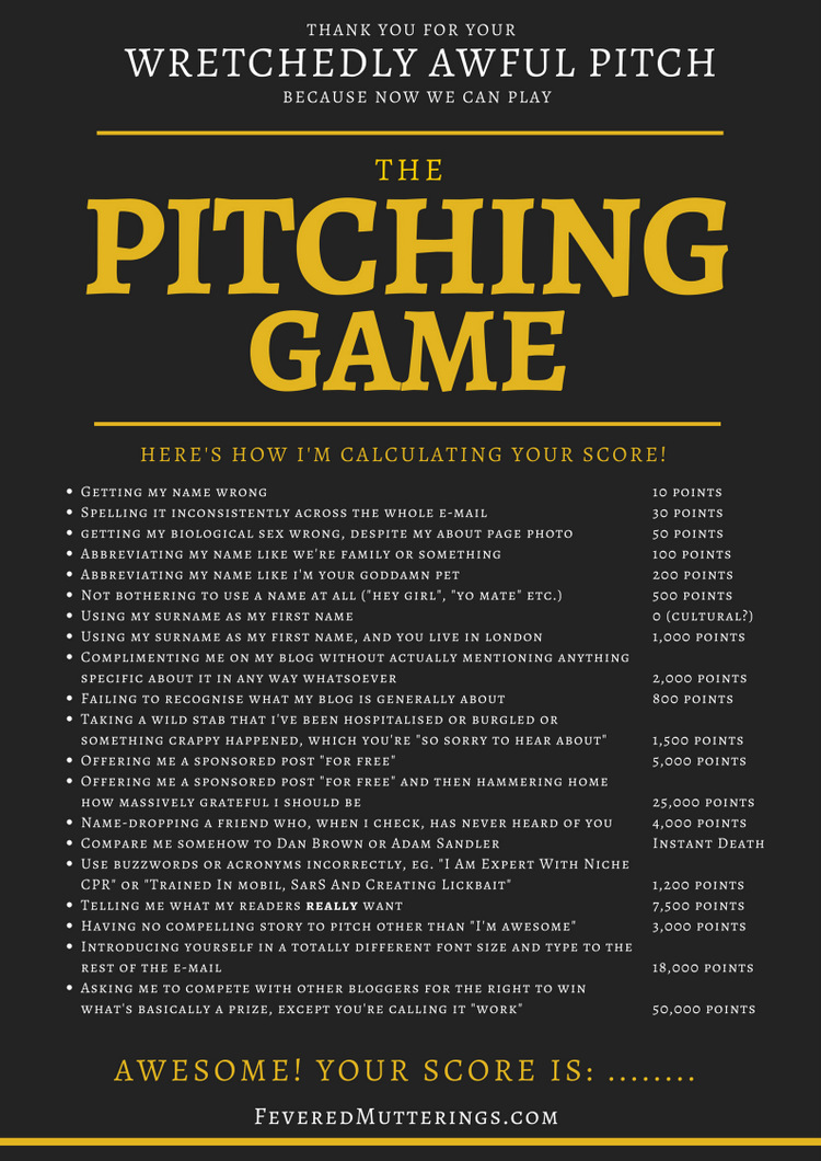 the pitch game