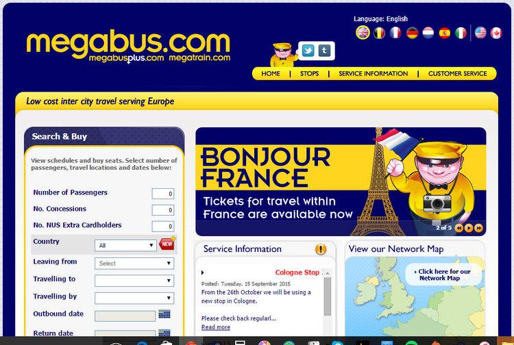 Megabus website