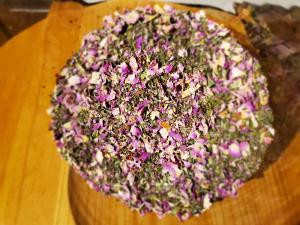 image of the ingredients in the relax'n garden foot soak