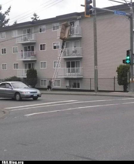 Sofa Ladder Moving Fail