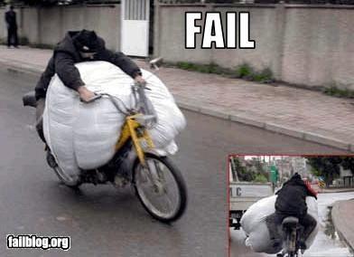 Funny Bike Moving Fail