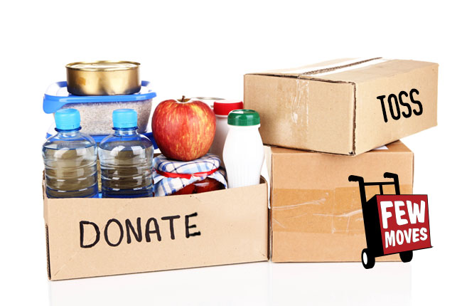 Where to donate food before you move in Raleigh, NC