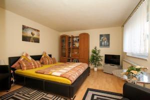 Schlafbereich mit Doppelbett Ferienwohnung zum Ruppberg