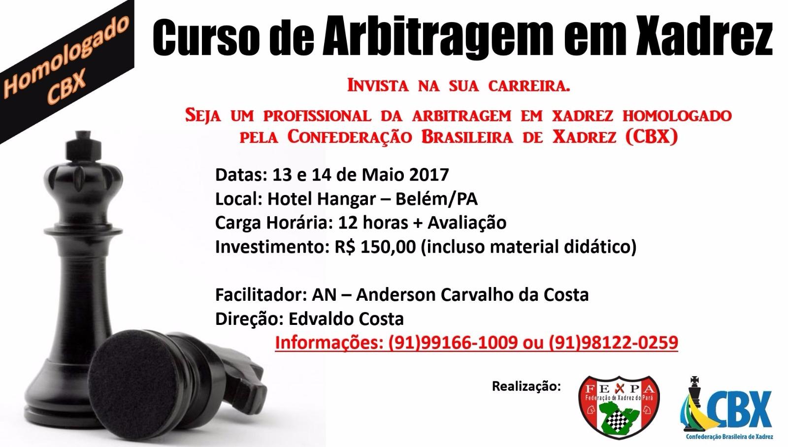 Curso de Arbitragem em Xadrez – ID CBX 3698/17