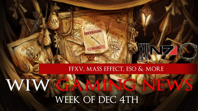The Week In Wikis Final Fantasy XV Launch Mass Effect