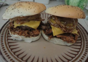 The yummy pulled pork sandwich!