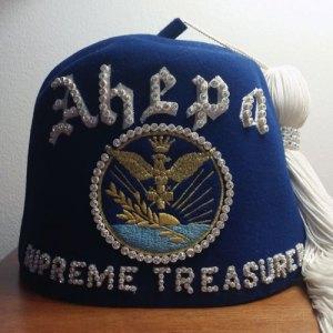 Blue AHEPA Greek Fez