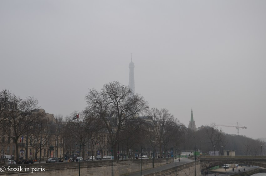 The Eiffel, as seen from Pont Alexandre III.