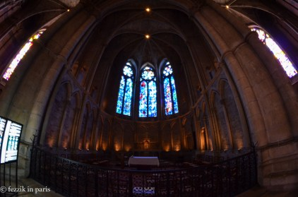A wider shot of the Chagall windows.