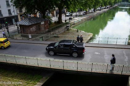 Establishing shot of the vehicle bridge over the canal. Bonus: VW truck that isn't imported into the states.
