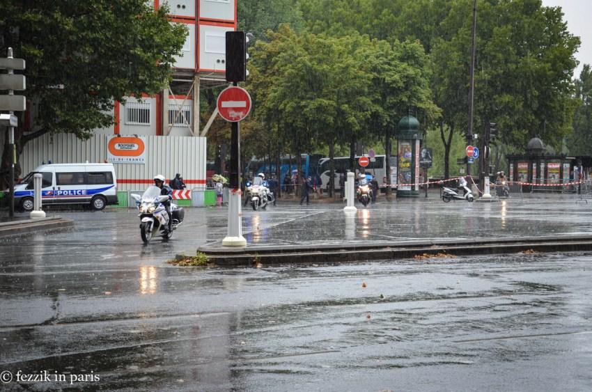 As I said, it rained.