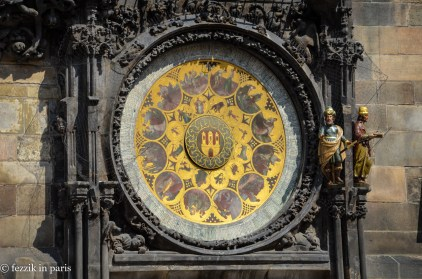 Detail of the clock.