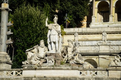 Some nice sculpture on the edge of the Villa Borghese.