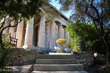 Hephaestus' temple, up close.