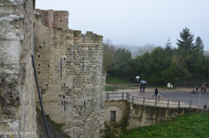 One of the town gates, as seen from the ramparts.