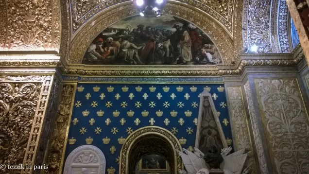 The cathedral is elaborately decorated.