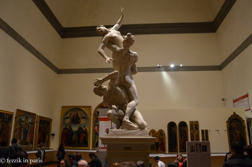 A plaster cast of the The Rape of the Sabine Women.