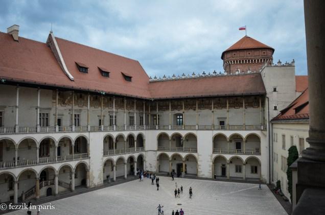 A patriotic courtyard.