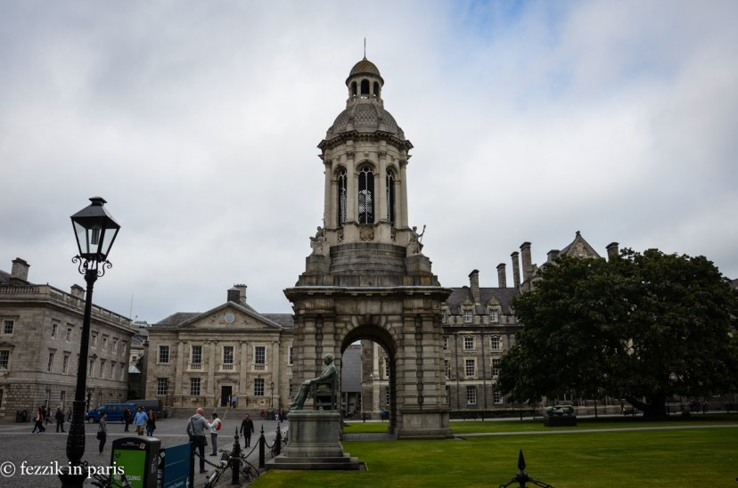 The lovely campus of Trinity College, Dublin, home of The Book of Kells. Not pictured: The Book of Kells, because one is not allowed to take pictures anywhere near inside the exhibit.