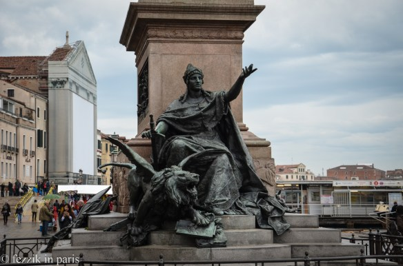 Note to self (and anybody else looking at this statue): refrain from fucking with Venice.