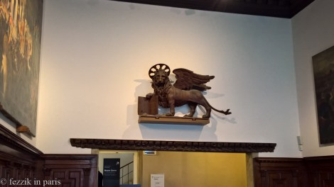 Another museum lion.