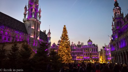The Grote Markt was markedly more festive after dark.