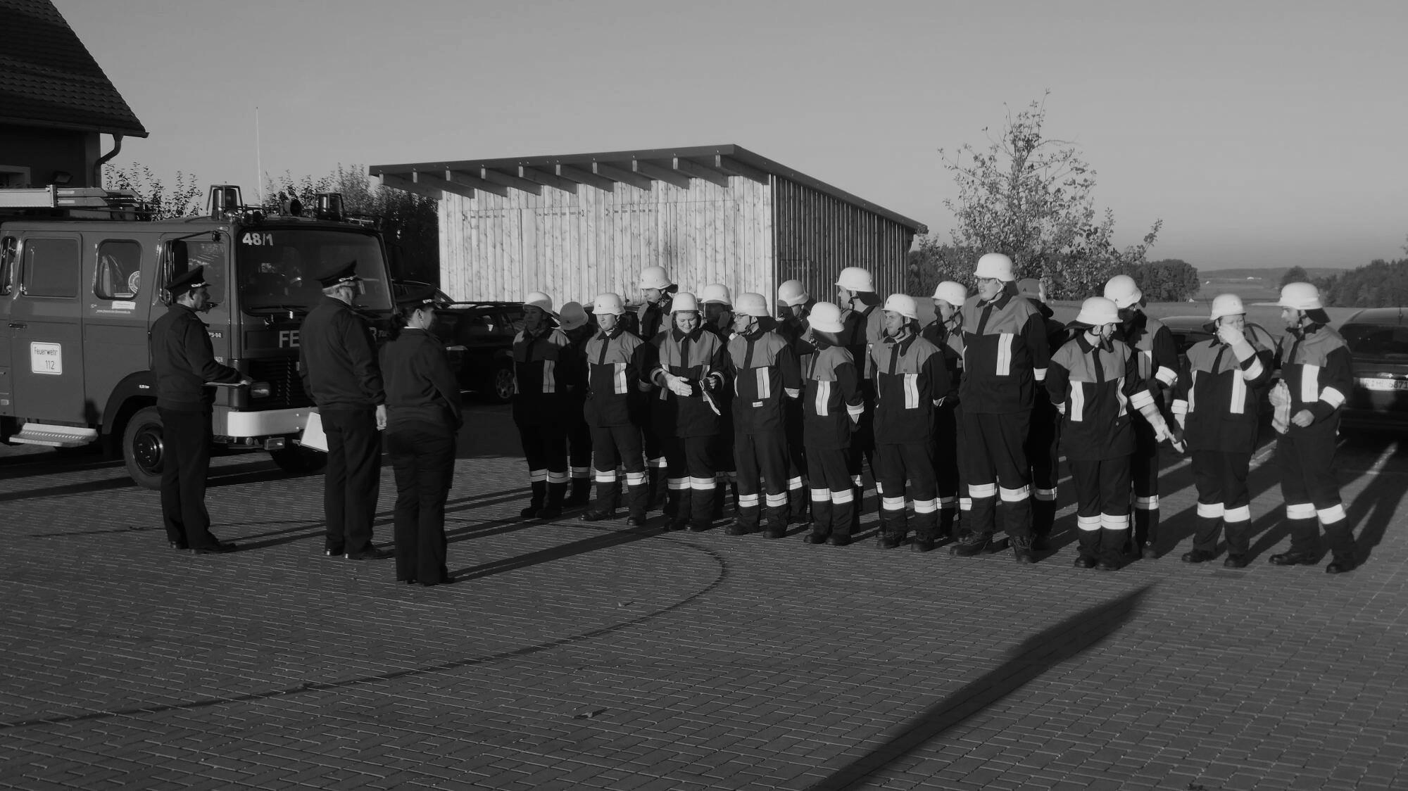 Gruppe von Feuerwehrmänner