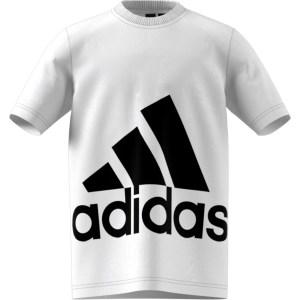 adidas Performance - Αγορίστικη κοντομάνικη μπλούζα BIG LOGO λευκή