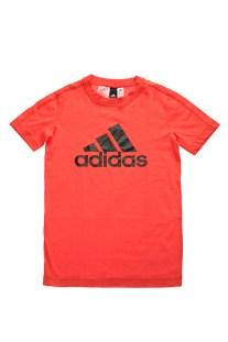 adidas Performance - Παιδική κοντομάνικη μπλούζα YB LOGO κόκκινη