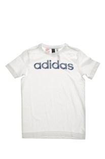 adidas Performance - Αγορίστικη κοντομάνικη μπλούζα LINEAR λευκή