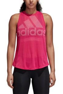 adidas performance - Γυναικεία αμάνικη μπλούζα adidas Performance Magic  Logo ροζ ba540f2d80e