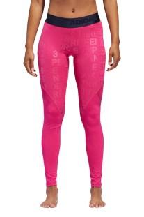 dce42ab152d adidas performance - Γυναικείο κολάν adidas Alphaskin Long Tight 3S Foil  Print φούξια