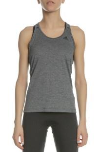 adidas Performance - Γυναικεία αμάνικη μπλούζα adidas TECH PRIME ανθρακί a7be8a72c46