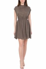 AMERICAN VINTAGE - Γυναικείο μίνι φόρεμα AMERICAN VINTAGE χακί