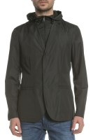 ARMANI JEANS - Ανδρικό αντιανεμικό σακάκι blazer ARMANI JEANS μαύρο