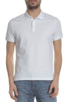 ARMANI JEANS - Ανδρική polo μπλούζα ARMANI JEANS λευκή