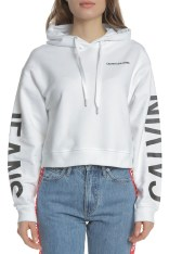 e97d17f48726 CALVIN KLEIN JEANS - Γυναικεία φούτερ μπλούζα INSTITUTIONAL CALVIN KLEIN  JEANS λευκή