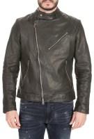 G-STAR RAW - Ανδρικό jacket G-STAR RAW Suzaki leather μαύρο