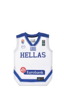 GSA - Παιδική μπλούζα της Εθνικής Ελλάδος-Αντετοκούνμπο λευκή