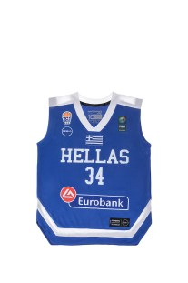 GSA - Παιδική μπλούζα της Εθνικής Ελλάδος-Αντετοκούμπο μπλε