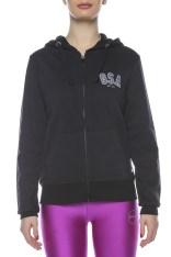 24a0fcd8c2a7 GSA - Γυναικεία μακρυμάνικη φούτερ ζακέτα GSA μαύρη