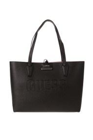 GUESS - Γυναικεία τσάντα GUESS HANDBAG μαύρη ροζ